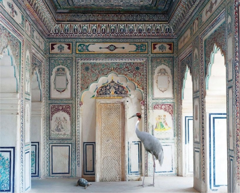 Amrita's Message, Nagaur Fort, Nagaur, 2012, colour pigment print on Hahnemühle Fine Art Pearl Paper, 48 x 60 inches/122 x 152 cm