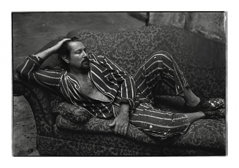 , Julian Schnabel, New York City, 1995, archival pigment print, 30.5 x 42.6 inches/77.5 x 108.2 cm, Photograph © Annie Leibovitz
