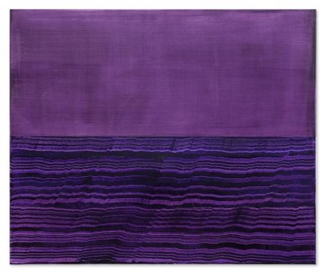 Ricardo Mazal, Split Violet Blue 4, 2017, 48 x 57.5 inches/122 x 146 cm