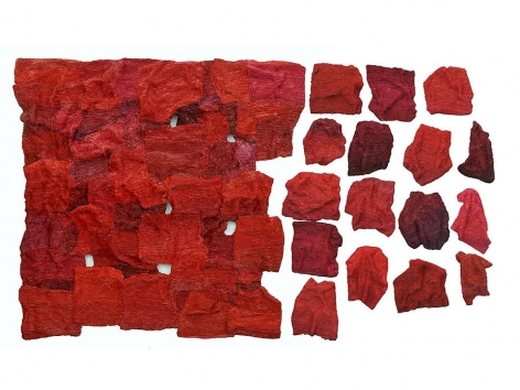 Belong Series II, 2011, mixed media on canvas, 49.2 x 78.7 x 3.9 inches