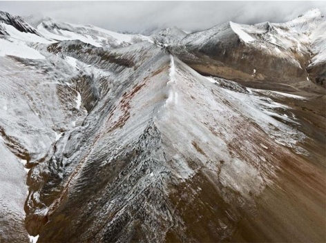 , Edward Burtynsky, Mount Edziza Provincial Park #3, Northern British Columbia, Canada, 2012 Chromogenic color print, 122 x 162.6 cm, Edition 1/6