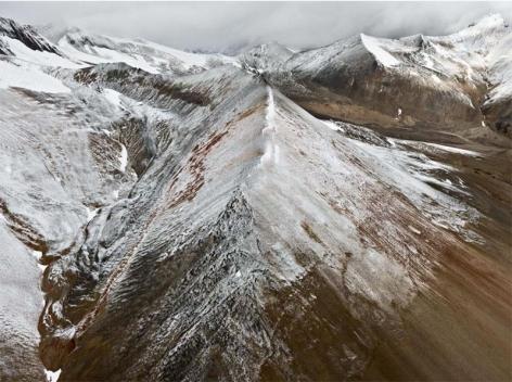 Edward Burtynsky, Mount Edziza Provincial Park #3, Northern British Columbia, Canada, 2012 Chromogenic color print, 122 x 162.6 cm, Edition 1/6