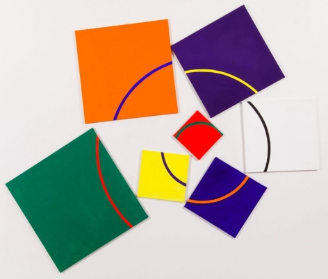 Suedo Spiral, 2009, acrylic on canvas, 94 x 106.5 inches/238.8 x 270.5 cm