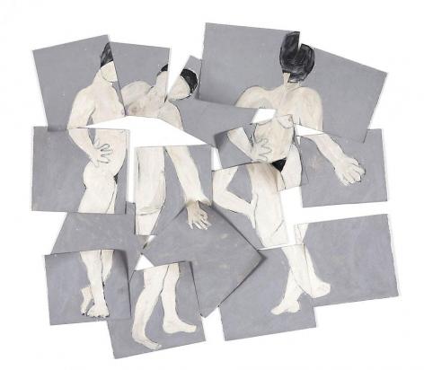 "I Forgot, 2008, Acrylic on paper, 41 x 45.5"""