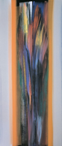"Vittorio Matino,  Beckmann's Land , 2006, Acrylic on linen, 84.5 x 35.75"""