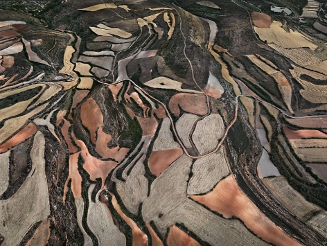 Dryland Farming #24, Monegros County, Aragon, Spain, 2010, chromogenic color print, 48 x 64 inches