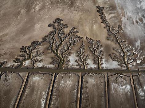 , Edward Burtynsky, Colorado River Delta #10, Abandoned Shrimp Farm, Sonora, Mexico, 2012, Chromogenic color print, 48 x 64 inches