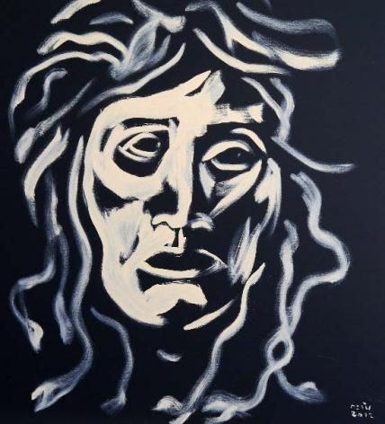 Tawan Wattuya, Medusa, 2012, acrylic and oil on canvas, 90 x 100 cm