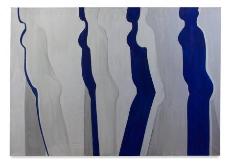 Walking Figure, 1969, acrylic on linen, 51 x 72 inches/129.5 x 182.9 cm