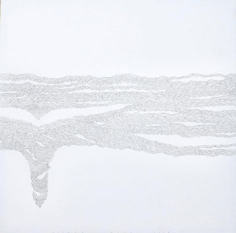 Golnaz Fathi, Untitled, 2007, pen and varnish on canvas, 39.4 x 39.4 inches