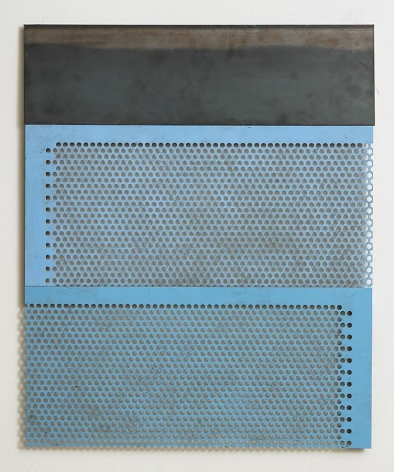 Untitled, 2012, rust preventive paint on steel, 27 x 22.25 inches