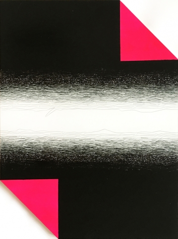 Untitled, 2018, mixed media onpvc,23.6 x 17.7 inches/60 x 45 cm