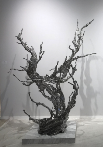 Zheng Lu, Water in Dripping No.12, 2014, stainless steel, 83 x 63 x 47 inches/210 x 160 x 120 cm