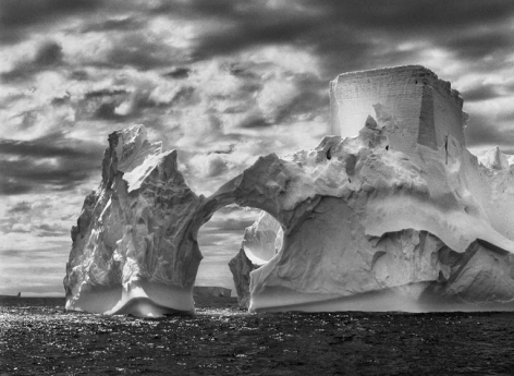 , Sebastião Salgado, Iceberg Between Paulet Islands and the Shetland Islands, Antarctica, 2005, gelatin silver print, 36 x 50 inches / 92 x 127 cm © Amazonas Images