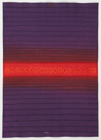 Sohan Qadri,Nadi IV, 2008, ink and dye on paper,55 x 39 inches/139.7 x 99.1 cm