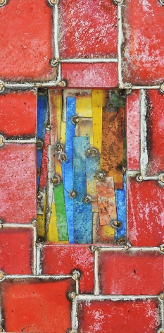 Earteasons 5, 2011, pure pigment on steel, 24 x 12 inches