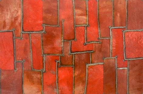 """Punjab Mist, 2008, Pure pigment on steel, 48 x 73"""""""