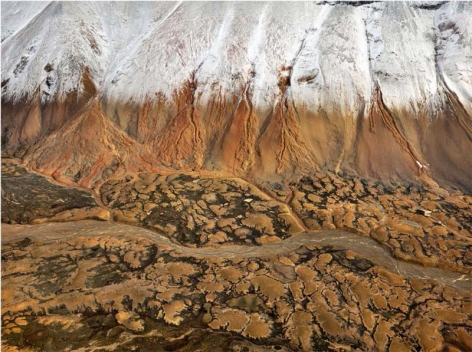 Edward Burtynsky, Mount Edziza Provincial Park #2, Northern British Columbia, Canada, 2012, Chromogenic color print, 122 x 162.6 cm, Edition 2/6