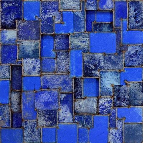 Chichenbluetime, 2011, pure pigment on steel, 48 x 48 inches/121.9 x 121.9 cm