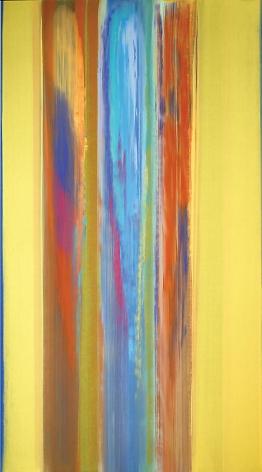 "After Sarnath, Acrylic on linen, 94.5 x 51.5"""