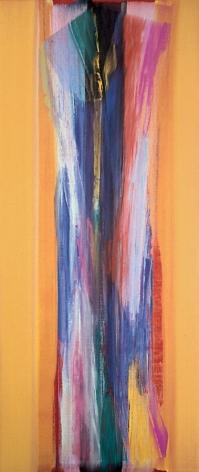 "Vittorio Matino,  Gold Flight , 2006, Acrylic on linen, 84.5 x 35.75"""
