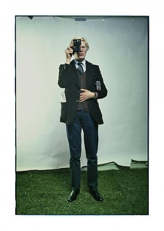 Andy Warhol, New York City, 1976, archival pigment print, 30.5 x 21.5 inches/77.5 x 54.6 cm, Photograph © Annie Leibovitz