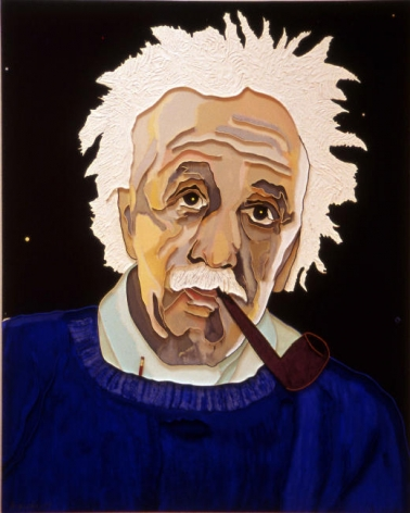 Lee Waisler, Einstein's Pencil, 2007, Acrylic and wood on canvas, 60 x 48""