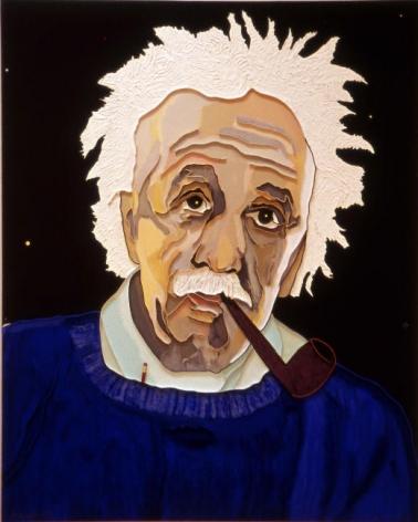 "Lee Waisler, Einstein's Pencil, 2007, Acrylic and wood on canvas, 60 x 48"""