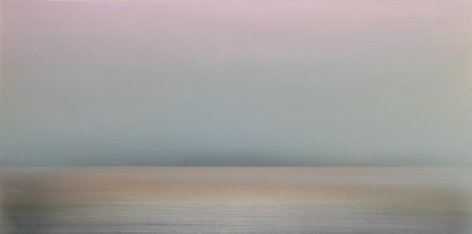 Kasumi Pink Shift, 2017, pigment, resin & urethane on aluminum, 24 x 48 inches/ 66 x 122 cm