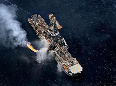 Edward Burtynsky, Oil Spill #6, Discoverer Enterprise, Gulf of Mexico, 2010, chromogenic color print, 48 x 64 inches. Photographs © 2010 Edward Burtynsky
