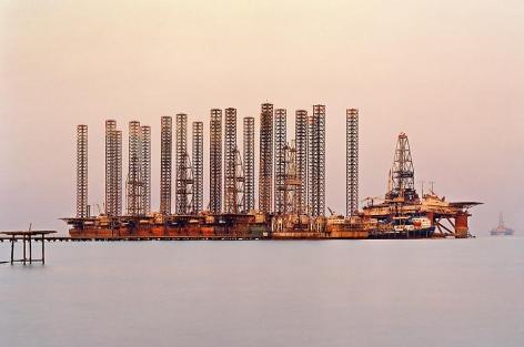 Edward Burtynsky, SOCAR Oil Fields #6, Baku, Azerbaijan, 2006,  Chromogenic color print, 24 x 37 inches