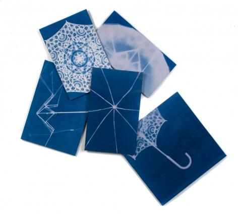 Susan Weil, Spring/Sprung, 2009, blueprint, 62 x 65.5 inches/157 x 168 cm