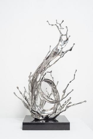 Zheng Lu, Rain, 2018, stainless steel 25.59 x 16.5x 17.5inches/65 x 42 x 44.5 cm