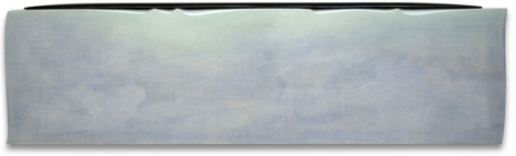 Glide, 2013, acrylic on fabric on wood, 19 x 66 inches/48.3 x 167.6 cm