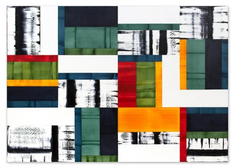 Bhutan Abstraction G1, 2014, oil on linen, 70 x 100 inches/178 x 254 cm