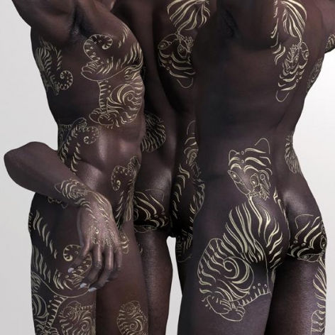 Kim Joon, Ebony-Tiger, 2013, Digital print, 47 x 47 inches/119.4 x 119.4 cm
