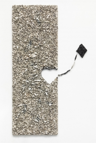 Jane Lee, It Is as It Is, Play series #4, 2019, acylic paint and canvas on wood, 63 x 23 x 2.4 inches/160 x 58 x 6 cm