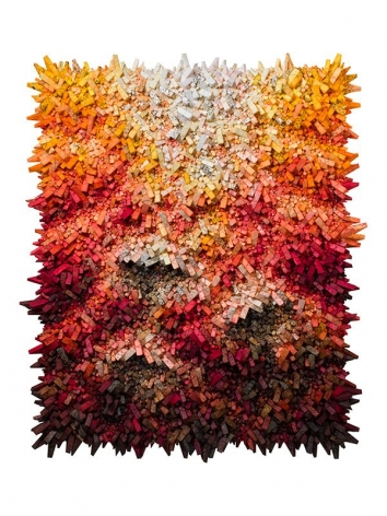 Aggregation 18 - DE067,2018, mixed media with Korean mulberry paper, 71.7 x 61 inches/182 x 155 cm