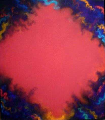 """Natvar Bhavsar,  VASOO II , 1997, Pure pigment on canvas, 62 x 56"""""""