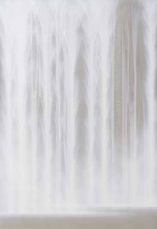 Waterfall, 2020, natural pigments and platinum on Japanese mulberry paper mounted on board, 45.9 x 31.6 inches/117 x 80 cm