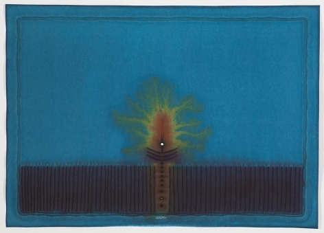 Abhasa II, 2008, ink and dye on paper, 39 x 55 inches