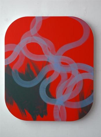 "Christoph Wedding,  Der Afang einer Entwicklung (The Beginning of a Development) , 2008, oil on wood, 88 x 75"""