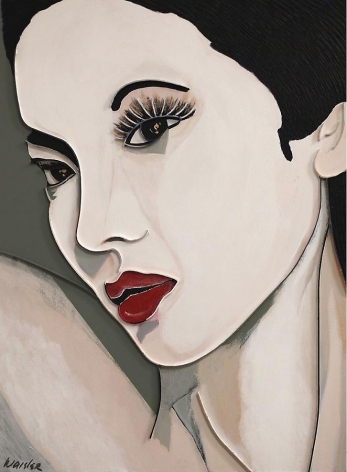 Anna May Wong, 2012, acrylic and wood on canvas, 40 x 30 inches