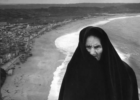 """Nazare, Portugal, Crab Claw Lady 1974, Silver gelatin print, 16 x 23"""""""