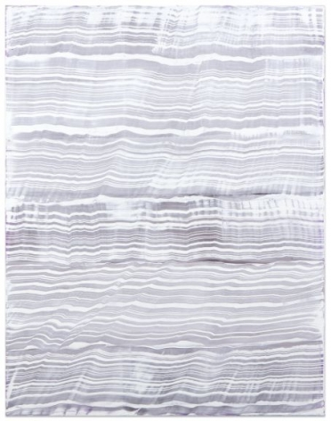 White Over Violet 1, 2016, oil on linen, 70 x 55 inches/177.8 x 139.7 cm