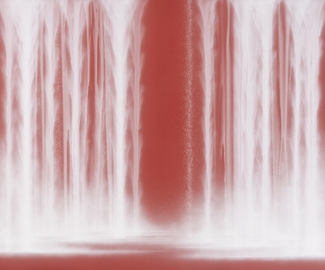 Waterfall, 2020, natural pigments on Japanese mulberry paper mounted on board, 63.8 x 76.3 inches/162 x 194 cm