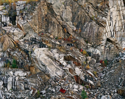 Edward Burtynsky, Rock of Ages #6, Abandoned Granite Quarry, Rock of Ages Quarry, Barre, Vermont, 1991, Chromogenic color print, 40 x 50 inches. © Edward Burtynsky