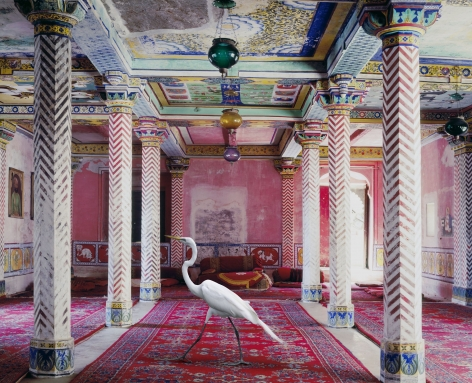 Flight to Freedom, Durbar Hall, Dungarpur, 2010, Hahnemühle ink jet print, 23.6 x 30 inches/60 x 76.2 cm
