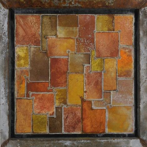 Nathan Slate Joseph, Kimono Kimono, 2009, Pure pigment on galvanized steel, 51 x 51