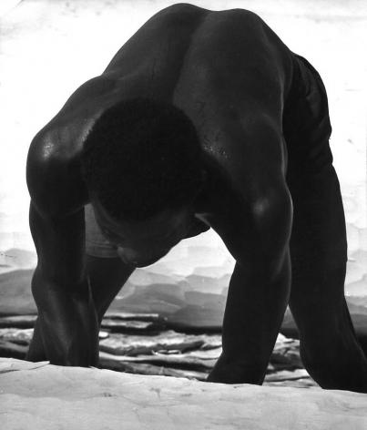 "Nigeria, The Railsplitter 1959, Silver gelatin print, 23 x 19"""
